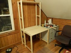 IKEA Hack Desk & Office Revamp - 12/27/2014 - 20 more photos at Flickr | Ivar shelves become a desk