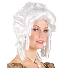 Baroque Woman Wig White Ladies Costume Accessory