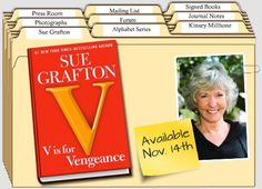 V is for Vengeance is the next book in the serious of books by Sue Grafton.  I will be reading this one soon!  Love her books!
