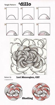 464 best Zentangle Patterns images on Pinterest | Zentangle ...