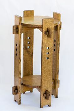 Arts and Crafts furniture design principles are an amazing combination of simple and complex Wooden Chair Plans, Chair Design Wooden, Wood Toys Plans, Furniture Design, Woodworking Toys, Woodworking Projects, Craftsman Style Furniture, Wooden Plane, Mission Furniture