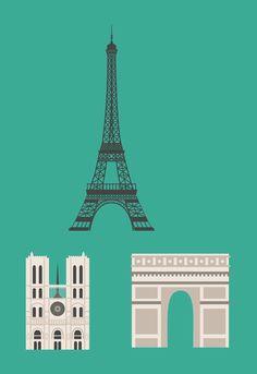 Cities of The World by Alexandru Ionita, via Behance