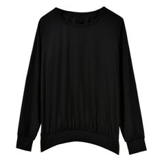 New Women Fashion Long Sleeve O-Neck Back Zipper Solid Casual Pullover Blouse Hoodie Sweatshirt