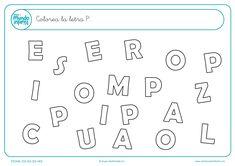 Fichas de gramotricidad con letras - Mundo Primaria Math Equations, Education, Words, Planes, Infant Activities, Alphabet, Preschool Learning Activities, Montessori Activities, Children