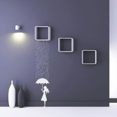 Super cool wall stickers. LOVE this. Lots more on the design blog.