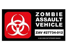 Zombie Assault Vehicle (Bumper Sticker) Big Cat Sticker Shack http://www.amazon.com/dp/B006KIZANI/ref=cm_sw_r_pi_dp_lcmIvb0SBQV68