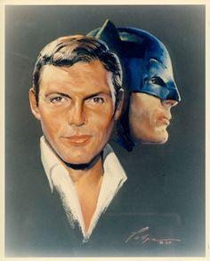 Vintage Adam West as Batman portrait (ca.