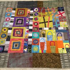 I love the wonky blocks and composition. The Marcia Derse fabrics are wonderful!  (My mom's improv wonky quilt top! Mostly Marcia Derse fabrics | Flickr - Photo Sharing!)