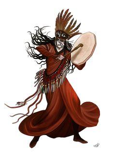 Shaman of the steppe. Turko-mongolic beauty.