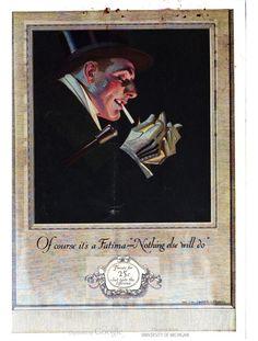 A dapper gentleman in a cigarette ad, in Life magazine in 1921.
