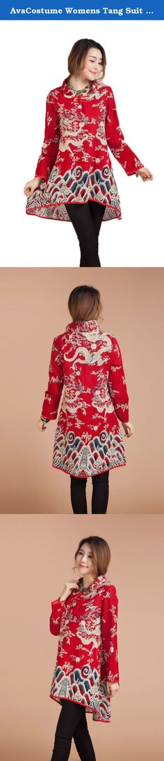 AvaCostume Womens Tang Suit Pattern Long Sleeve Blouse Dress, Red Dragon Large. AvaCostume Company, Inc. is a China's designer, manufacturer and retailer of Halloween costumes and accessories. AvaCostume offers an extensive line of products for infants, children, teens and adults. Our vast selection extends beyond Halloween to other special occasions, as people around the globe celebrate Easter, Mardi Gras, St. Patrick's Day, Christmas, and more. You can easily get estimated delivery date...