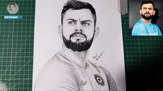 how to draw a virat kohli face st p by step Thanks for watching people can see more : I am professional artist. Always sketch water-color pencil sketch, draw. Color Pencil Sketch, St P, Figure Sketching, Face Sketch, Virat Kohli, Cricket, Art Drawings, Saints, Simple