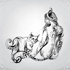 Find Vector Silhouette Girl Cat Black Cat stock images in HD and millions of other royalty-free stock photos, illustrations and vectors in the Shutterstock collection. Thousands of new, high-quality pictures added every day. Body Art Tattoos, Tribal Tattoos, Girl Tattoos, Girl And Cat, Engel Tattoo, Arte Tribal, Geniale Tattoos, Girl Silhouette, Cat Tattoo