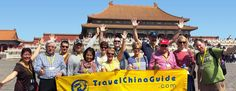 Our small group guests in Forbidden city