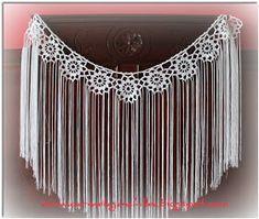 Carmela Ganchillea: Especial mantoncillos de flamenca Crochet Collar, Crochet Poncho, Diy Crochet, Crochet Top, Tribal Fusion, Flamenco Costume, Crochet Shawls And Wraps, Crochet Clothes, Crochet Patterns