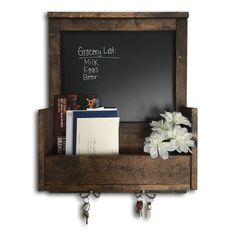 Build your very own beautiful Mail & Key Organizer that includes a chalkboard to write down to-do lists and more. Kit includes materials and instructions..
