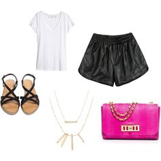 A fashion look from March 2015 featuring white tee, flat shoes and suede handbags. Browse and shop related looks. Suede Handbags, Stella Dot, White Tees, Michael Kors, Fashion Looks, Polyvore, Shopping