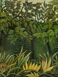 From the Douanier Rousseau to Séraphine: The Great Naive Masters Illustration Jungle, Henri Rousseau Paintings, Modern Primitives, Critique D'art, Tiger Drawing, Grand Paris, Background Diy, Art Diary, Art Moderne