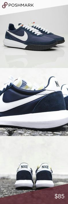 Nike Roshe Authentic Nike Roshe, * Size 8 Men's ,  Women's 8.5-9   Color: Navy / White / Black. Box/ no lid.   Material: Textile / Suede / Leather Also available Red and White.                                              ** No trades, Price Firm. Nike Shoes Athletic Shoes