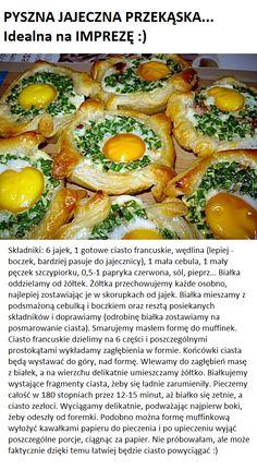 Pyszna jajeczna przekąska... Idealna na imprezę :) Green Beans, Vegetables, Food, Hoods, Vegetable Recipes, Meals, Veggies