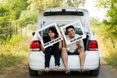 save the date idea , car boot , kidnapped pre wedding shoot idea
