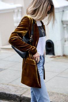 Velvet blazers, velvet dusters, velvet flares, velvet pantsuits and velvet shoes . . . bring it.