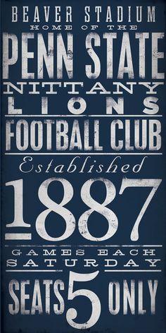 635ab0c0fbdf4 Penn State Nittany Lions football typography by geministudio
