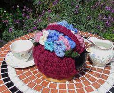 Flower Basket Tea Cosy by LittleDaisyKnits on Etsy,