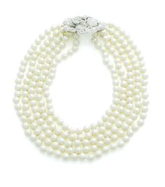 Audrey - 5 Row Pearl Necklace