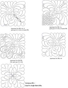 computerized quilting patterns for a Double Irish Chain Quilt Free motion quilting Pinterest ...