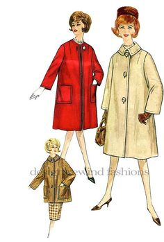 1960s Classic JackieO Style Women's Coat 2 by DesignRewindFashions, $20.00