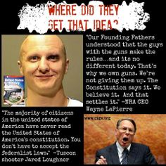 Where did they get that idea? Jared Lee Loughner who shot and killed 6 people and injured 13 others, including former Congresswoman Gabrielle Giffords. #RejectInsurrectionism #gunviolence #gunsafety #gunsense