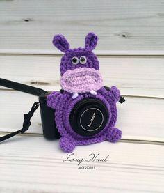 Hippo Camera Accessory, Camera Accessory, Camera Buddy,Hippo Crochet, Photography, Children Photography, Crochet Hippo, Hippo Lens Buddy