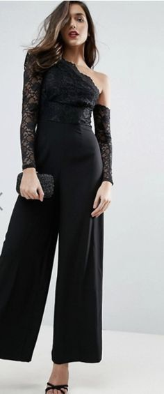 Purchase Fletcher Chevron Embroidered Stretch-Crepe Jumpsuit featured by Rachel Zoe in black. - Scroll down your favorite shopping street. Occasion Jumpsuits, Latest Fashion Clothes, Fashion Outfits, Funky Outfits, Black White Fashion, High End Fashion, Rachel Zoe, Formal Wear, Ready To Wear