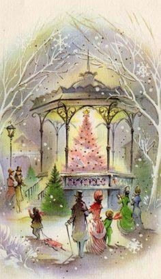 1800 christmas card