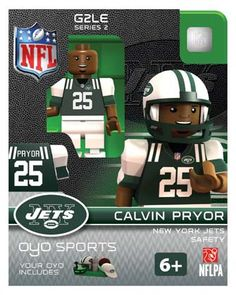#25 Calvin Pryor New York Jets Safety-Limited Edition OYO minifigure