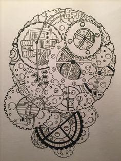 Zentangle / paint / clock / time