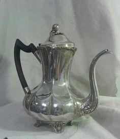 Antique Silver Plate Coffee Pot Toronto 1920s Standard Silver