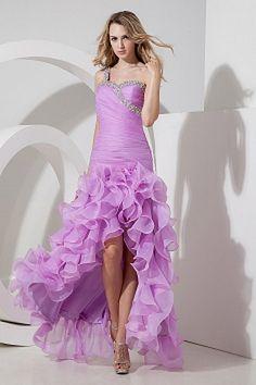 Weekly Special Product: Purple Organza A-Line Abendkleid ma1486 - Order Link: http://www.modeabendkleider.de/purple-organza-a-line-abendkleid-ma1486.html - Farbe: Purple; Silhouette: A-Line; Ausschnitt: Eine Schulter; Verzierungen: Perlen, Rüschen, Rüsche