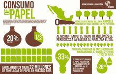 ¿Sabes cuánto papel se consume en México? Para reducir este consumo y contribuir a tener un planeta mejor, es importante que en tu empresa y en tu vida personal recicles y dejes de utilizar papel cuando no sea necesario.