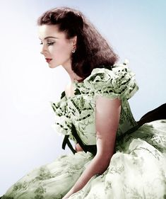 """Vivien Leigh as Scarlett O'Hara. """"Gone with the wind"""""""