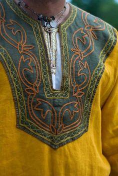 Pattern for a mens Viking tunic Viking Tunic, Viking Garb, Viking Reenactment, Viking Men, Viking Dress, Viking Shirt, Costume Viking, Medieval Costume, Norse Clothing