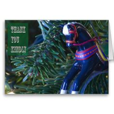 Rocking Horse Thank You Card by Florals by Fred #zazzle #gift #photogift
