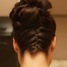 Back of Maid of Honor's hair