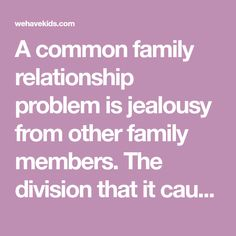 Signs of jealous family members