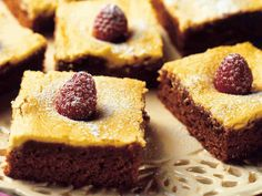 Vadelmabrownies - Reseptit French Toast, Pie, Baking, Breakfast, Desserts, Food, Torte, Morning Coffee, Tailgate Desserts