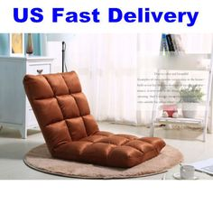 US Shipping Adjustable Floor Folding Couch Sofa Recliner Lounge Chair Coffee   #unbranded #Holiday