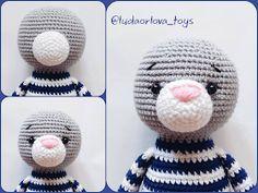 Samyelinin Örgüleri: Jeremy the Amigurumi Cat (Free English Pattern) Crochet Cat Toys, Crochet Cat Pattern, Knitted Cat, Crochet Amigurumi Free Patterns, Crochet Bear, Knitted Dolls, Crochet For Kids, Crochet Birds, Crochet Dolls