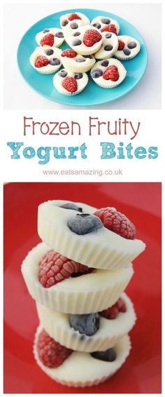 Frozen Fruity Yogurt Bites Yummy healthy kid snack or treat with less sugar than.,Healthy, Many of these healthy H E A L T H Y . Frozen Fruity Yogurt Bites Yummy healthy kid snack or treat with less sugar than regular icecream! Baby Food Recipes, Snack Recipes, Appetizer Recipes, Breakfast Recipes, Easy Snacks For Kids, Healthy Meals For Children, Recepies For Kids, Summer Kids Snacks, Yummy Easy Snacks