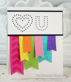 Washi Patterns, Peek-a-Boo Alphabet Uppercase Die-namics, Peek-a-Boo Heart Frames Die-namics, Pierced Fishtail Flags STAX Die-namics - Sharon Harnist #mftstamps